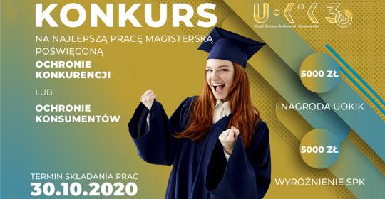 Konkurs UOKiK na najlepsze prace magisterskie i doktorskie